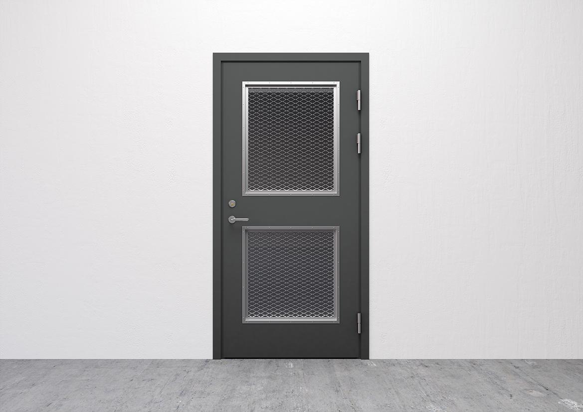 Dörrar med sträckmetall
